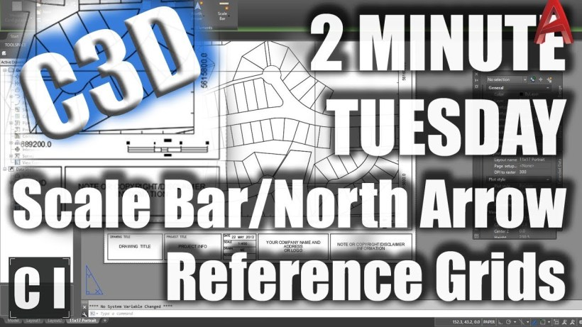 Civil 3D: How to add Dynamic Reference Grids, Scale Bars and North