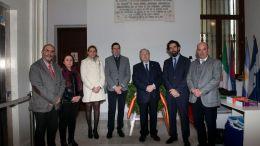 Representantes del Colegio de Graduados Sociales en la Casa de Iberoamérica