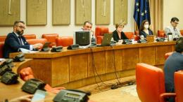 Mesa de la Comisión de Justicia
