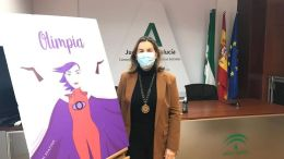 Celia Mañueco en la presentación de la APP Olimpia