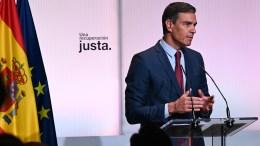 El presidente del Gobierno, Pedro Sánchez, durante la conferencia con la que ha abierto el curso político y ha presentado los planes del Ejecutivo