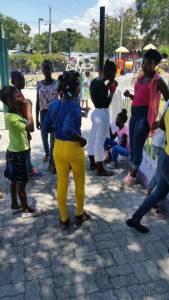 Sortie au parc avec les jeunes du CAEJ-Haïti