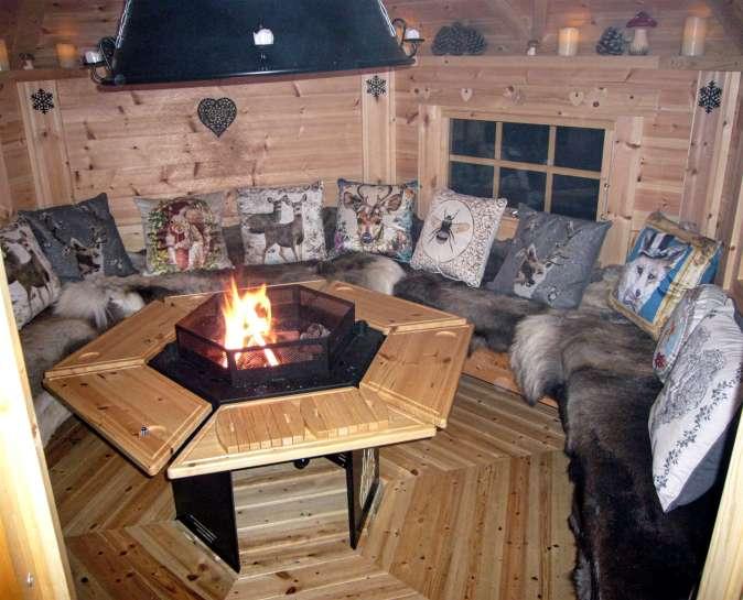 Garden Lodge at night