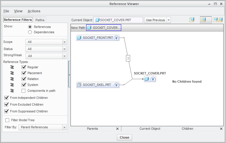 Reference Viewer: Identifying Part to Part references