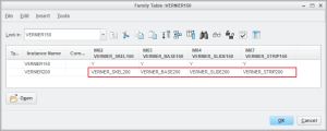 Generating Multiple Configurations by Creating Family Table of Skeleton