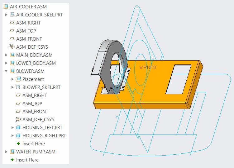 Multiple Skeleton Models for Multi Level Assembly