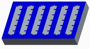 Cavity for a multi-cavity mold