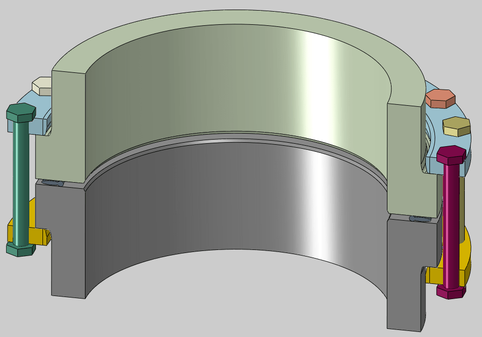 Flange joint of polyethylene pipes