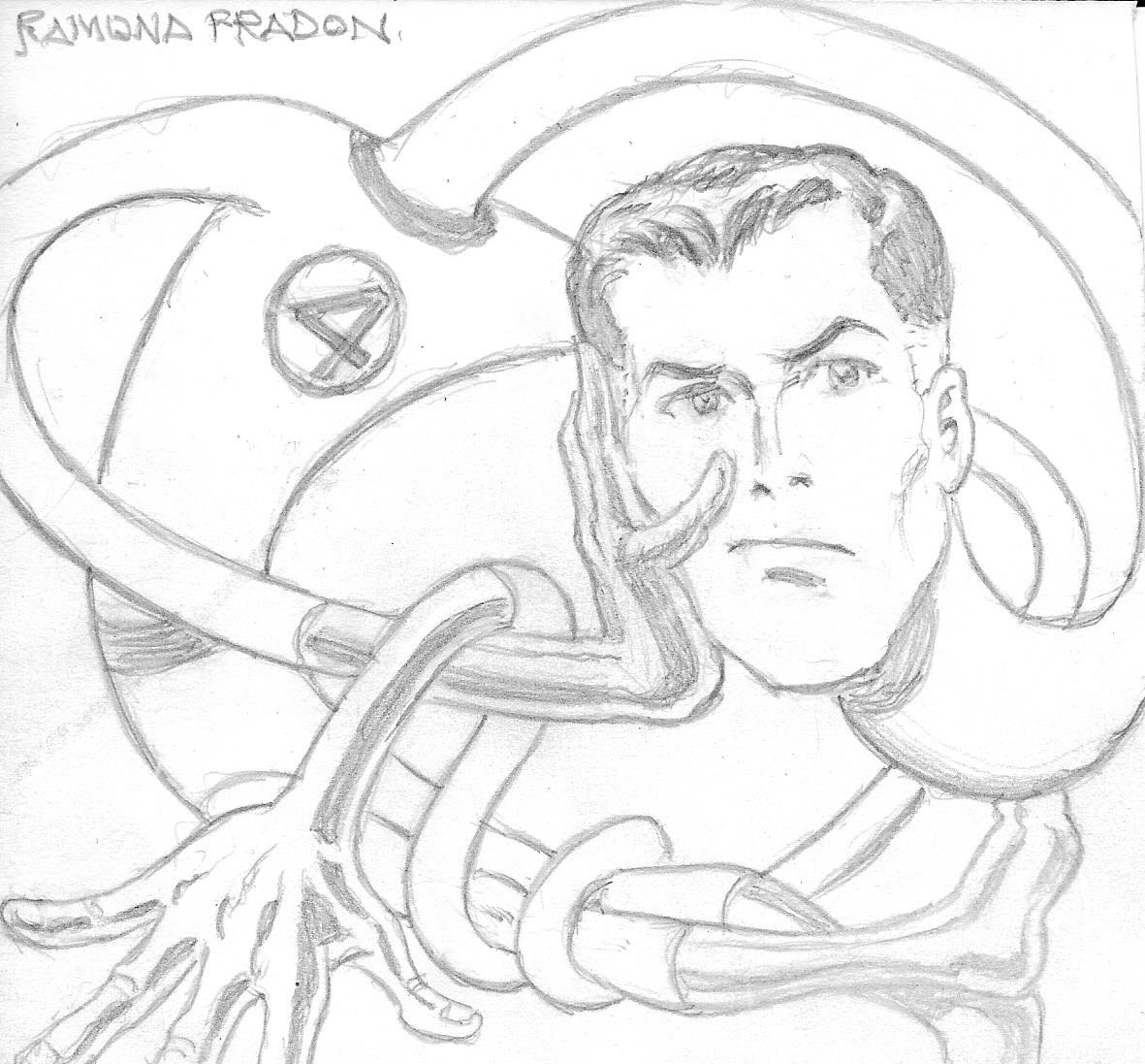 Mr Fantastic Of Fantastic Four By Ramona Fradon