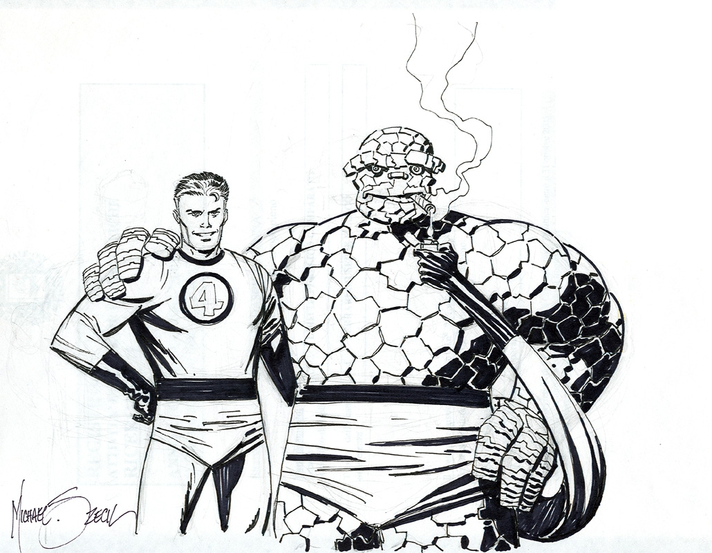 Mr Fantastic And The Thing Sketch