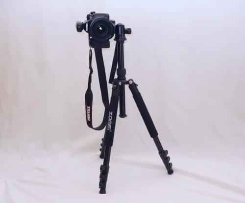 ZOMEI 三脚 Q555 カメラ縦位置