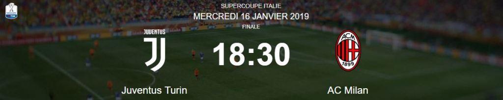 Juventus FC VS AC Milan SuperCoppa 2019