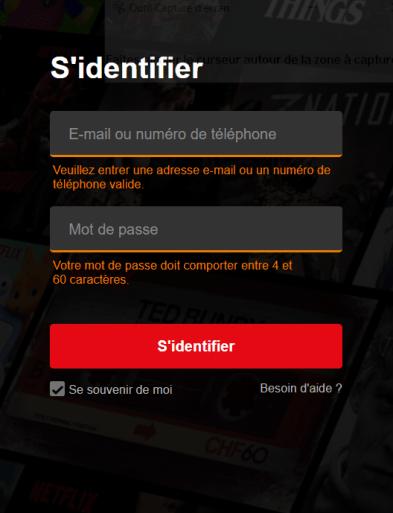 Connexion à votre compte Netflix