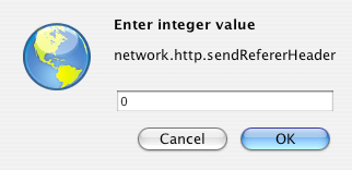 Integer dialog for Firefox