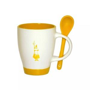 Bialetti mug & spoon yellow