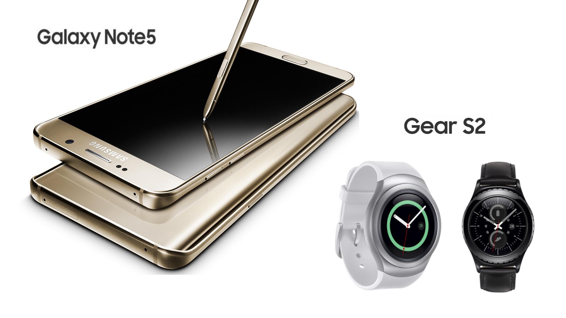 Samsung apresenta Galaxy Note 5 e Gear S2