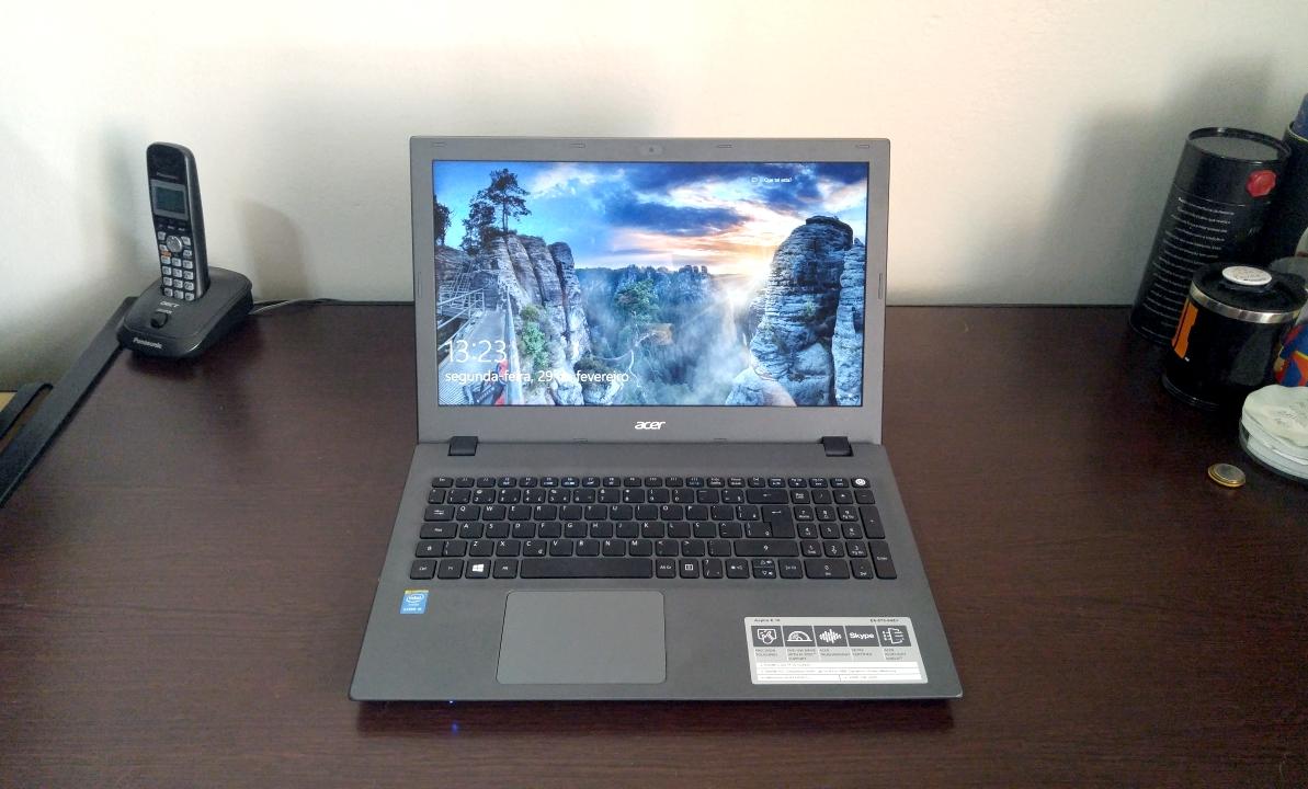 Notebook Acer Aspire E5 é boa opção para trabalho e entretenimento