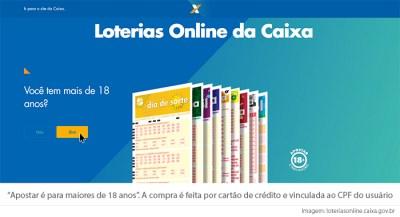 Loterias da Caixa permitem apostas online