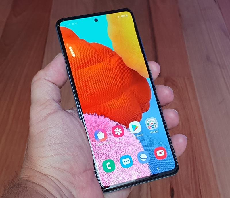 Samsung Galaxy A51 - tela super AMOLED