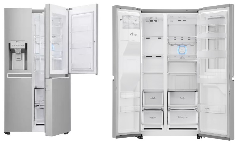 Geladeira Smart LG Side by Side Inverter 601 litros com Instaview Door-in-Door