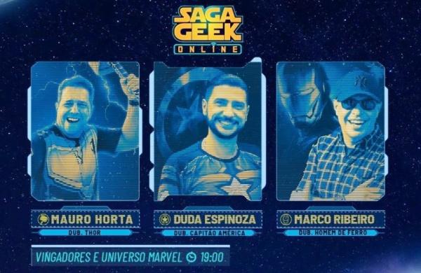 semana do orgulho nerd - dubladores de Thor, Homem de ferro e Capitão América