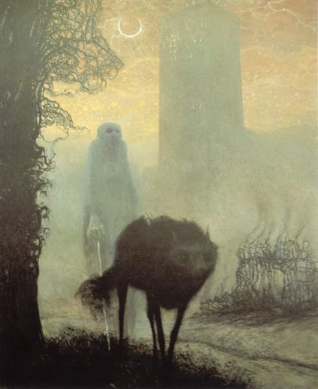 Walk at the dog, Zdzisław Beksiński