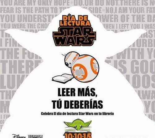 ¡Leer más, tú deberías! (Día de la lectura Star Wars)