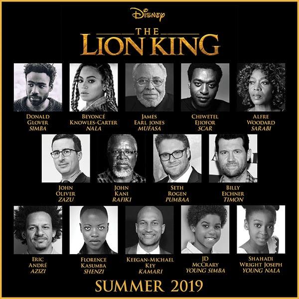 Ya conocemos el reparto completo de 'El Rey León'