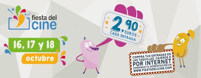La Fiesta del Cine se celebrará los días lunes 16, martes 17 y miércoles 18 de octubre