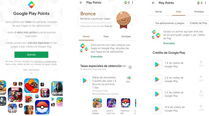 Google Play Points - Google te premia por jugar: Google Play Points