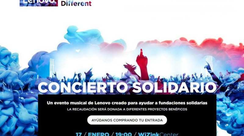 "Lenovo Sounds different - ""Lenovo Sounds Different"", el concierto solidario de Lenovo tendrá lugar en Madrid el próximo 17 de enero"