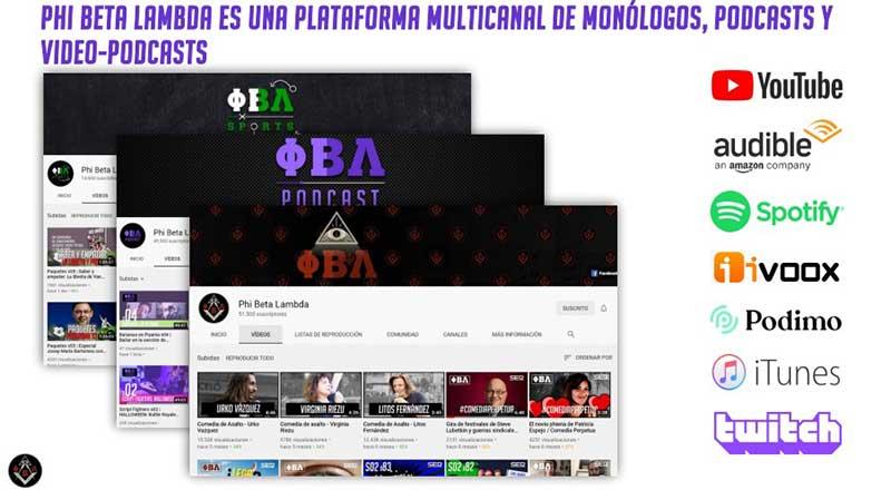 Phi Beta Lambda Podcast 1 - Phi Beta Lambda cumple tres años, la plataforma de monólogos y podcasts de Antonio Castelo y Miguel Campos