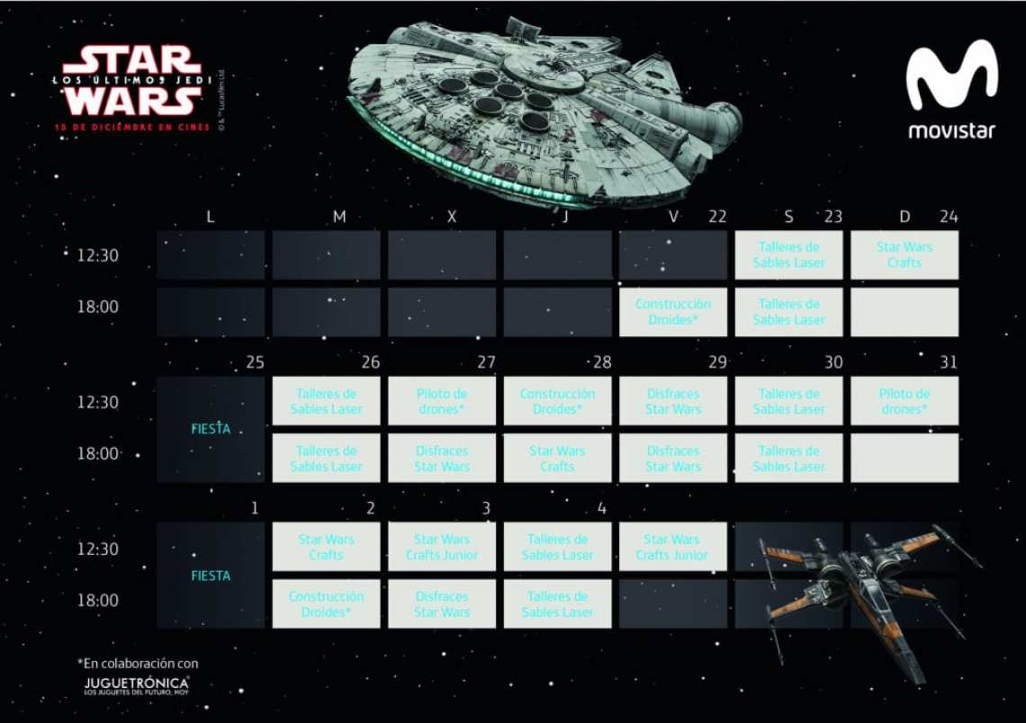 SW CALENDARIO - Telefónica presenta la única exposición con piezas originales autorizadas de la colección oficial de Star Wars
