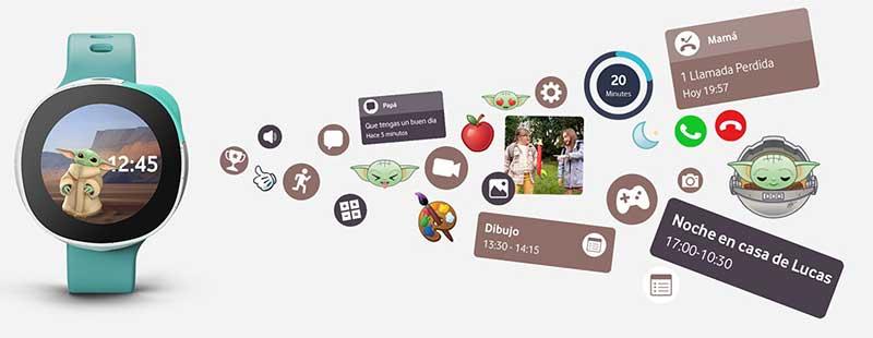 Smartwatch Vodafone Disney7 - Vodafone presenta 'Neo', el smartwatch para niños con los personajes de Disney, Marvel y Star Wars