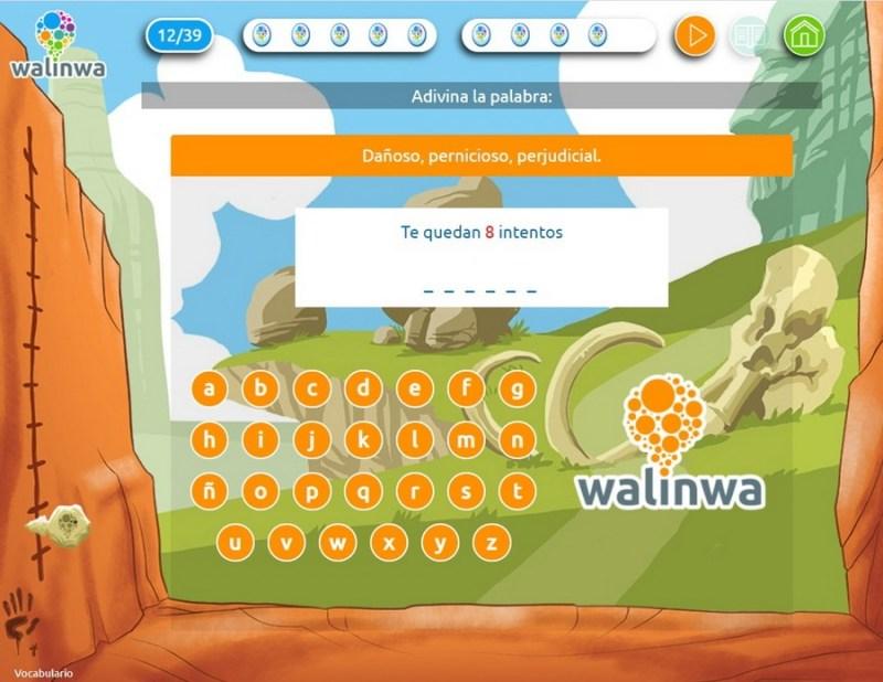 Walinwa adivina la palabra - El mejor método online para luchar contra las faltas de ortografía: Walinwa