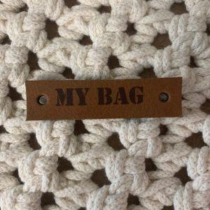Lederen label My Bag