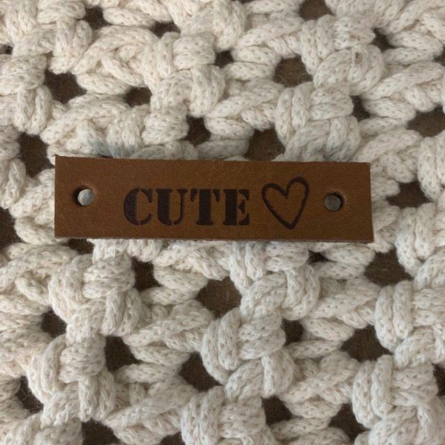 Lederen label Cute