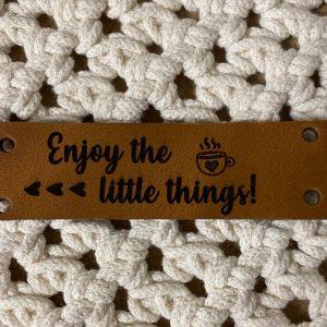Lederen Label Enjoy the little things