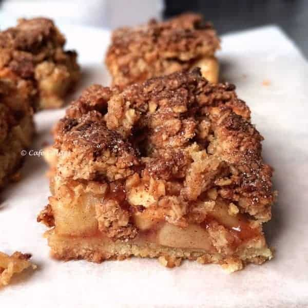 Apple and Custard Cobbler Pie Slice