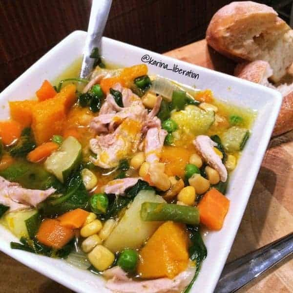 Chicken Corn & Vegetable Soup