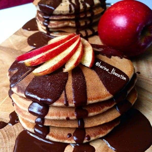 Honey Chai Apple Pancakes! WITH CLEAN Chocolate Honey Chai Syrup!