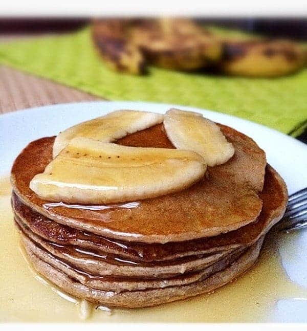 Banana Bread Pancakes with a Honey Chai Syrup!
