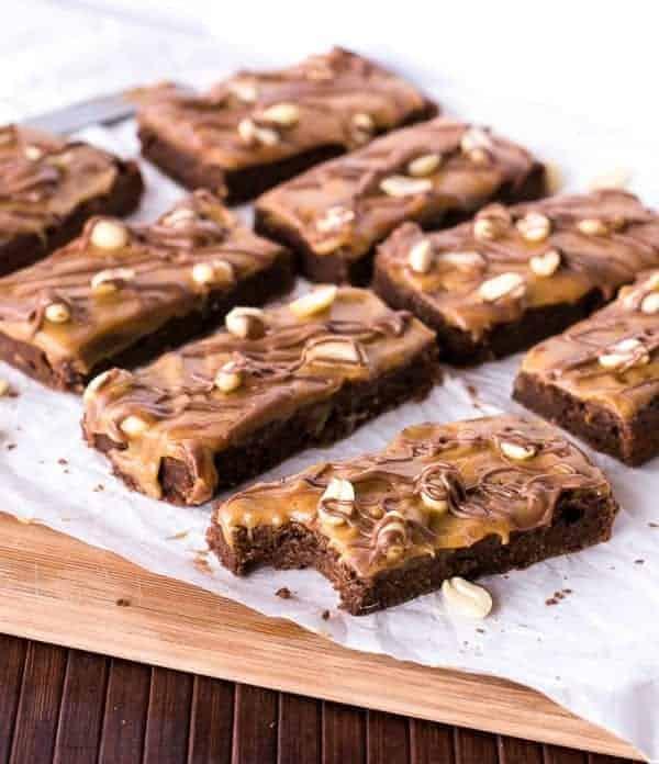 Snickers Fudge Brownies