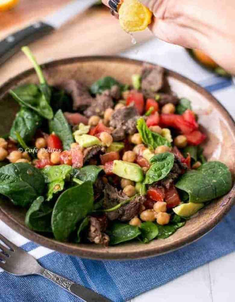 Lamb Chick Pea Salad - Cafe Delites-2