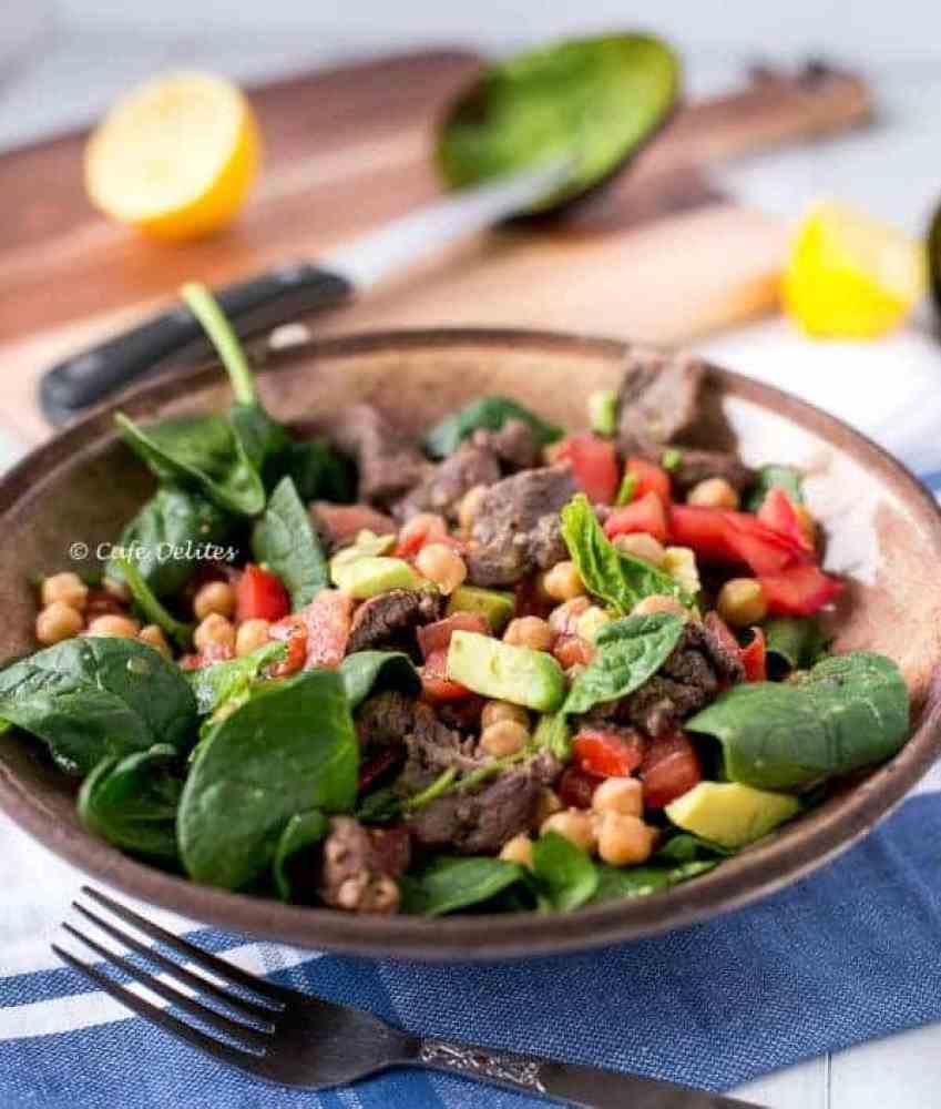 Lamb Chick Pea Salad - Cafe Delites-5