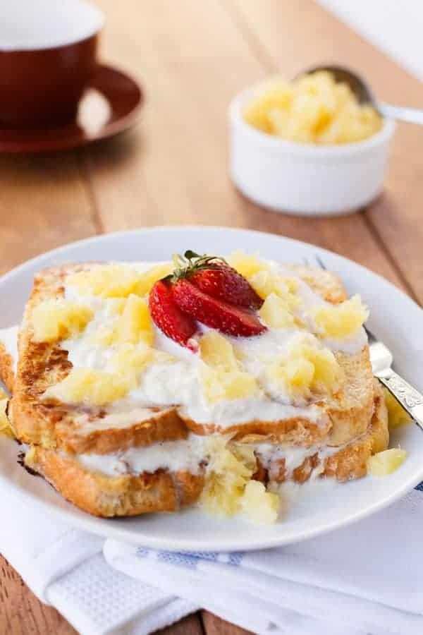 Pina Colada French Toast - cafe delites
