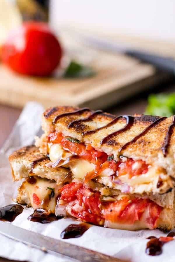 Caprese Grilled Cheese - Cafe Delites-27