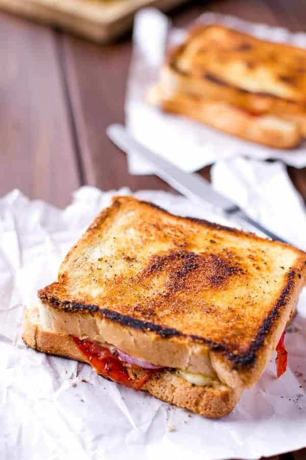 Caprese Grilled Cheese - Cafe Delites-5