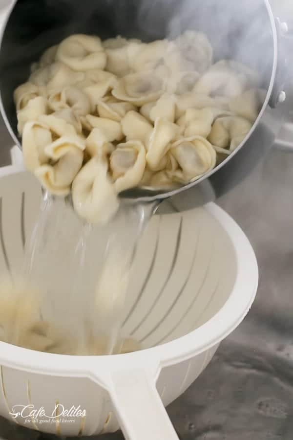 Tortellini with Chunky Beef Sauce | http://cafedelites.com