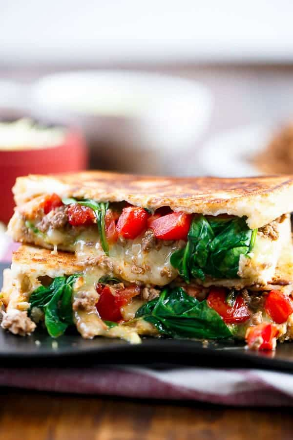 Loaded Taco Grilled Cheese http://cafedelites.com
